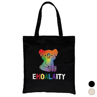 LGBT Ekoalaity Koala Regenbogen Canvas Tasche Valentinstag Geschenk
