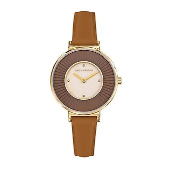 Ted Lapidus A0761PTPM Watch - Women's Brown Leather Bracelet Steel