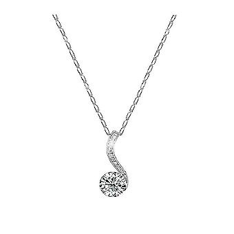 18k white-gold plated evelyn necklace