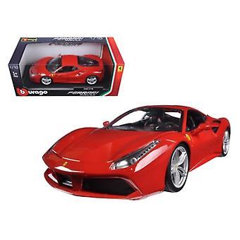 Ferrari 488 GTB Rot 1/18 Diecast Modellauto von Bburago
