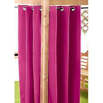 Pink 140 x 270cm Outdoor Curtain Eyelet Panel Garden Décor Drape Patio Shade