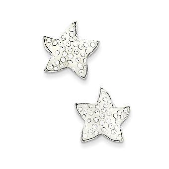 925 plata esterlina Post pendientes rhodium plateado esmalte estrella cristal pendientes joyería regalos para las mujeres