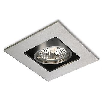 Firstlight Edge Modern Brushed Steel Ceiling Square Hallway Downlighter