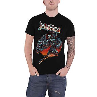 Judas Priest T Shirt Rédempteur bande Logo nouveau officiel Mens Black