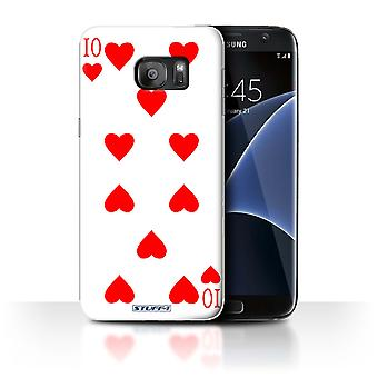 STUFF4 Case/Cover for Samsung Galaxy S7 Edge/G935/10 of Hearts/Playing Cards