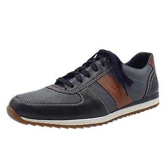 ريكر 19331-14 بيكرسفيلد مينز الذكية عارضة الدانتيل متابعة أحذية رياضية باللون الأزرق