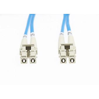 0.5m Lc-Lc Om4 Fiberoptisk kabel för multimodefiber - Blå