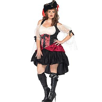 Womens Plus tamanho pirata Sexy Wicked Wench traje de Halloween
