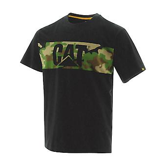 Caterpillar Mens Camo Print Logo Cotton Work T Shirt