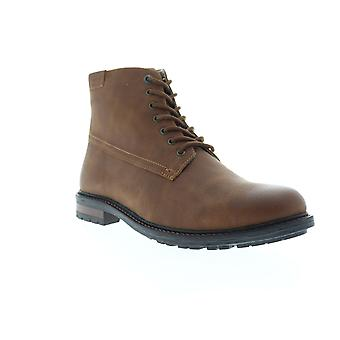 G.H. Bass Anchor Tumbled  Mens Brown Leather Casual Dress Boots