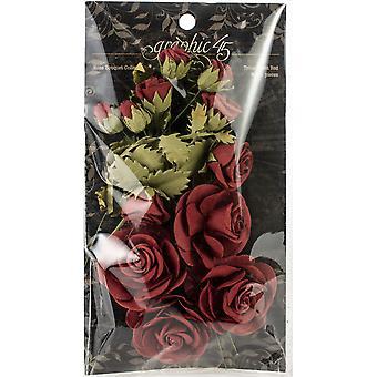 Graphic 45 Staples Rose Bouquet Collection 15/Pkg - Triumphant Red