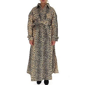 Jacquemus 193co031932105a Women's Leopard Cotton Coat