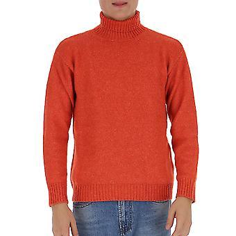 Laneus Mgu557cc3arancio Men's Oranje wollen trui