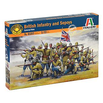 Italeri 6187S 1:72 British Infantry and Sepoys, Building, Stand Model Making