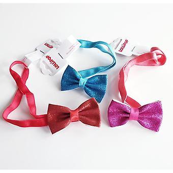 3 haarbanden met glitterige strik