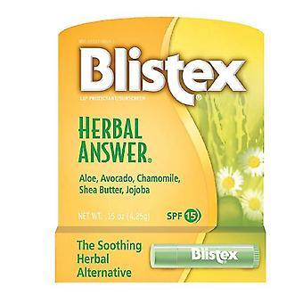 הגנה על שפתו של התשובה לצמחים blistex, spf 15, 0.15 עוז