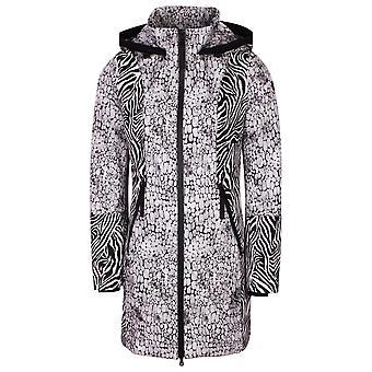 Creenstone Multi Animal Print Shades Of Grey Hooded Rain Coat
