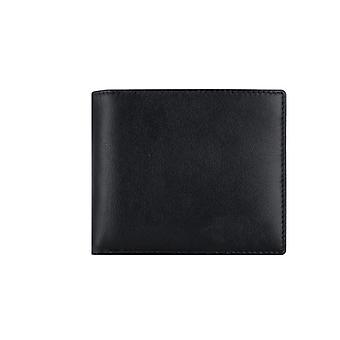 Cutie de card cu blocarea semnalului RFID - piele/negru