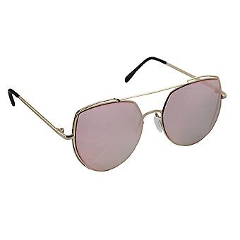 Sunglasses Ladies Cat Eye - Gold/Roze1997_1