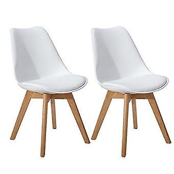 Wood4you - Frankfurt White Oak Essstuhl - Pariso - Low - Sitzhöhe: 41 cm - 2 Stück