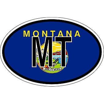 ملصقا بيضاوي االبيضاوي العلم رمز البلد الولايات المتحدة الأمريكية مونتانا