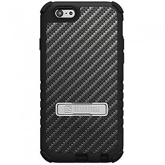 APPLE IPHONE 6/6S BEYOND CELL TRI SHIELD CASE - CARBON FIBER