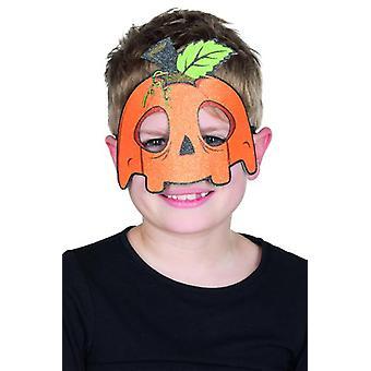Kindermaske Kürbis lustig Halloween Karneval Accessoire