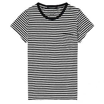 Maison Scotch Maison Scotch Slim Fit Pyöreä kaula naisten t-paita