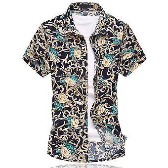 Allthemen muži ' s krátkym rukávom košele kvetinové bavlnené letné tričko