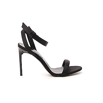 Max Mara 45212901600104001 Mulheres'sandálias de cetim preto