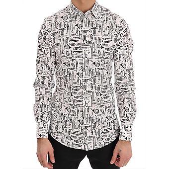 Dolce & Gabbana White Jazz Sicilia Slim Shirt TSH1787-6