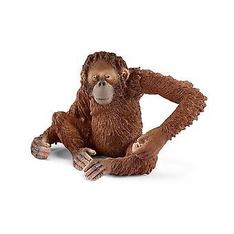 Schleich 14775 Orangutan, Female Animal Figure Wild Life