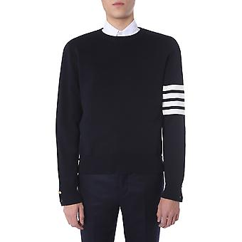 Thom Browne Mka202a00219415 Heren's Blue Cotton Sweater