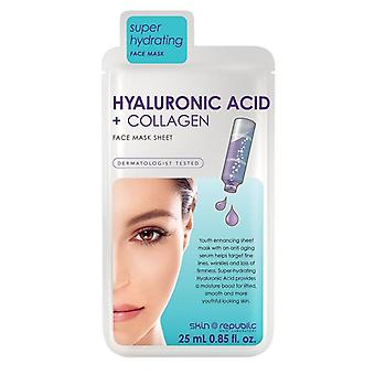 Skin Republic Hyaluronic Acid + Collagen Face Mask Sheet 25ml