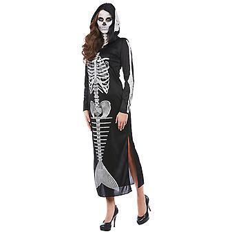 Glødende skelet havfrue damer kostume havfrue skelet Halloween
