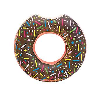 Anneau de natation de donut 107 cm anneau de beignet brun anneau de 12 ans