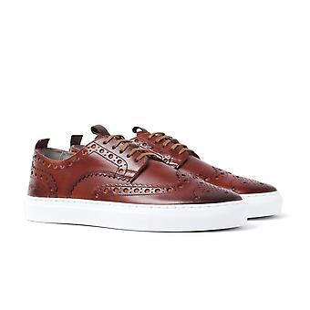 Grenson Sneaker 3 Tan Leather Brogue Trainers