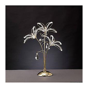 Kenzo Lampa stołowa 3 Żarówki Złoto / Kryształ