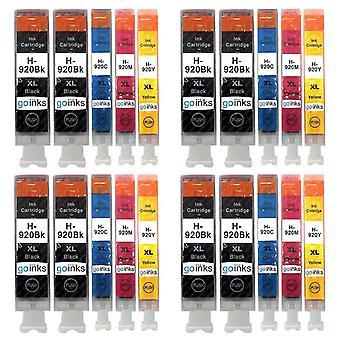 4 ensembles compatibles de 4 + Extra Black HP 920 (HP920XL) Cartouches d'encre d'imprimante