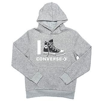 Boy's Converse Junior I Love  Hoody in Grey