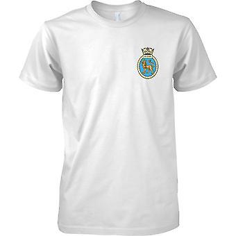 HMS Superb - ausgemusterte Schiff der königlichen Marine T-Shirt Farbe