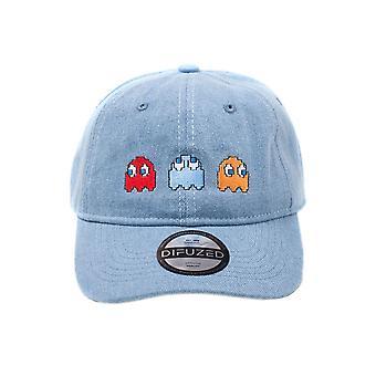 Pac-Man Ghosts Stone Washed Denim Baseball Cap