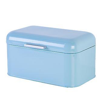 Caixa de armazenamento de pão de estanho homemiyn robusto estilo simples de cor sólida