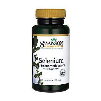 Selenium (L-Selenomethionine) 100 mcg 200 capsules