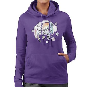 My Little Pony Rainbow Dash Cloud Women's Hooded Sweatshirt