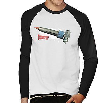 Thunderbirds Thunderbird 1 Splatter Effekt Männer's Baseball langärmelige T-Shirt