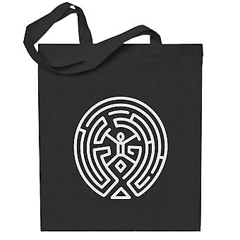 Westworld labyrint hvit totebag