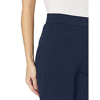 Brand - Lark & Ro Women's Wide Leg Ponte Pant, Navy, Medium