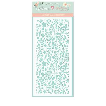 Stamperia Thick Stencil 12x25cm Small Flowers