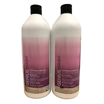 Redken Genius Wash Cleansing Conditioner Gross Cheveux DUO 33,8 OZ Chacun